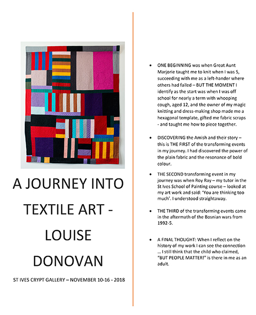 Louise Donovan - A Journey Into Textile Art..